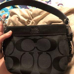 Black coach mini handbag
